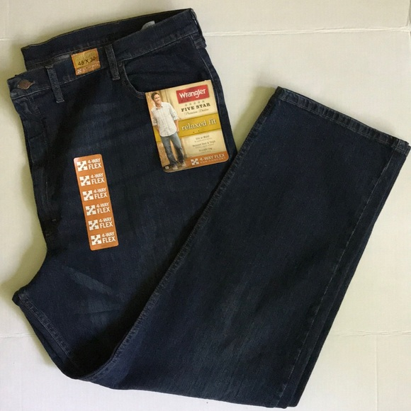 2c4d75ad Wrangler Jeans | Mens 4way Flex Relaxed Fit 48x30 | Poshmark